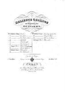 Nr.5 Aufenthalt: Für Stimme und Gitarre by Franz Schubert