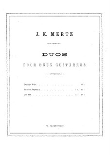 Der Ball. Duo für zwei Gitarren: Stimmen by Johann Kaspar Mertz