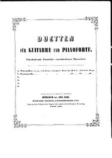 Mazurka für Gitarre und Klavier, Op.40: Stimmen by Johann Kaspar Mertz