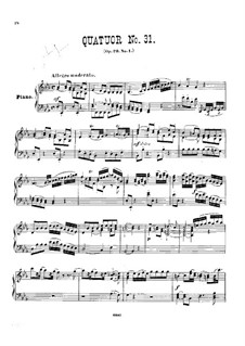 Streichquartett Nr.28 in Es-Dur, Hob.III/30 Op.20 No.1: Version für Klavier by Joseph Haydn