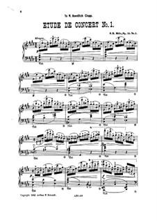 Zwei Konzertetüden, Op.15: Etüde Nr.1 by Sebastian Bach Mills