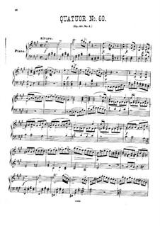 Streichquartett Nr.45 in A-Dur, Hob.III/60 Op.55 No.1: Version für Klavier by Joseph Haydn