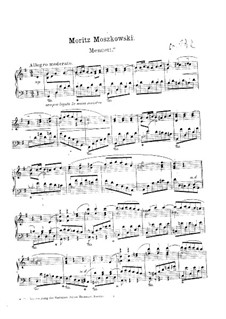Drei Klavierstücke in Tanzform, Op.17 No.2: Nr.2 Menuett by Moritz Moszkowski