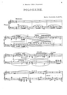 Zwei Stücke für Klavier, Op.45: Nr.1 Polonaise by Moritz Moszkowski
