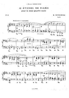 Zwölf Etüden für die linke Hand, Op.92: Etüde Nr.11 by Moritz Moszkowski