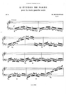 Zwölf Etüden für die linke Hand, Op.92: Etüde Nr.8 by Moritz Moszkowski