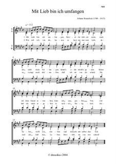 Mit Lieb bin ich umfangen für Männerchor: In A-Dur by Johann Steuerlein