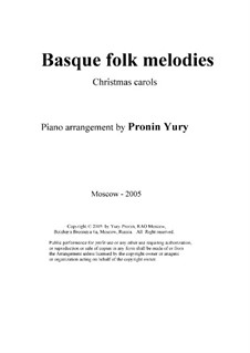 Basque folk melodies (Melodias de folklore vasco): Basque folk melodies (Melodias de folklore vasco) by folklore