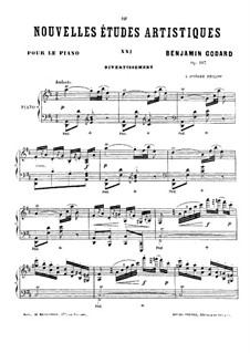 Nouvelles études artistiques, Op.107: No.9 Divertissement by Benjamin Godard