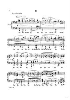 Partita für Violine Nr.1 in h-Moll, BWV 1002: Teil III. Bearbeitung für Klavier by Johann Sebastian Bach