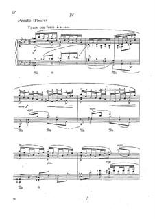 Sonate für Violine Nr.1 in g-Moll, BWV 1001: Teil IV. Bearbeitung für Klavier by Johann Sebastian Bach