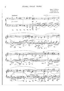 Home, Sweet Home: Version für Klavier by Henry Bishop