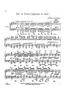 Java Suite: No.12 A Court Pageant in Solo by Leopold Godowsky