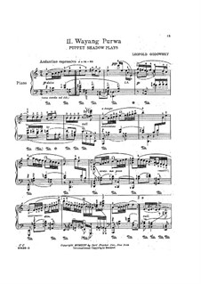 Java Suite: No.2 Wayang Purwa by Leopold Godowsky