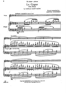 Der Schwan: Für Violine und Klavier by Camille Saint-Saëns