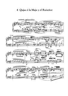 Goyescas (Los majos enamorados). Suite: No.4 Quejas o la maja y el ruiseñor by Enrique Granados