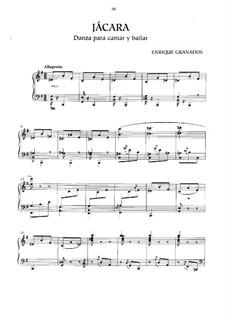 Jácara (danza para cantar y bailar), Op.14: Jácara (danza para cantar y bailar) by Enrique Granados