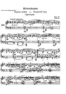 Lyrische Stücke, Op.54: Nr.1 Hirtenknabe by Edvard Grieg