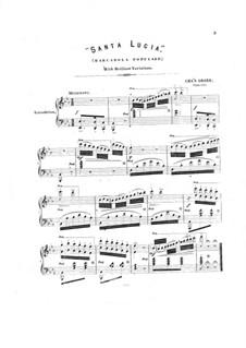 Santa Lucia, Op.1339: Santa Lucia by Charles Grobe
