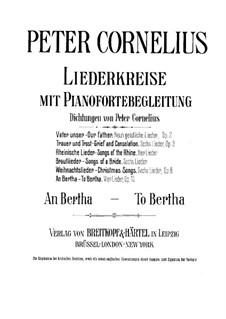 Vier Lieder, Op.15: Klavierauszug mit Singstimmen by Peter Cornelius