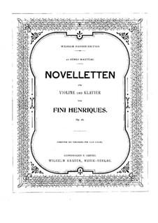 Novelletten für Violine und Klavier, Op.26: Partitur by Fini Henriques
