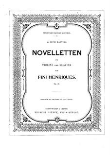 Novelletten für Violine und Klavier, Op.26: Solostimme by Fini Henriques