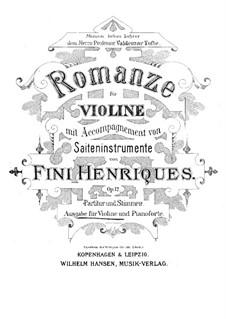 Romanze, für Violine und Klavier, Op.12: Partitur by Fini Henriques