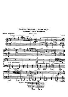 Vergilbte Seiten, Op.31: Für Klavier by Nikolai Miaskowski