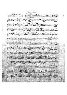 Le concert à la cour: Klarinettenstimme I by Daniel Auber