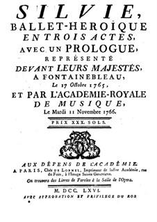 Sylvia: Libretto by Pierre Montan Berton