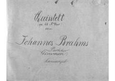 Streichquintett Nr.1 in F-Dur, Op.88: Vollpartitur by Johannes Brahms