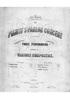 Tancredi: Ouvertüre, für Klavier, sechshänden by Gioacchino Rossini