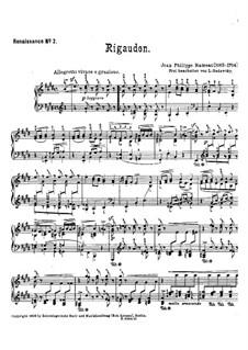 Rigaudon in E-Dur: Rigaudon in E-Dur by Jean-Philippe Rameau