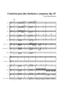 Konzert für zwei Klarinetten und Orchester in Es-Dur, Op.35: Teil I by Franz Krommer