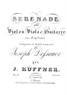 Serenade für Violine, Bratsche und Gitarre, Op.65: Serenade für Violine, Bratsche und Gitarre by Josef Küffner