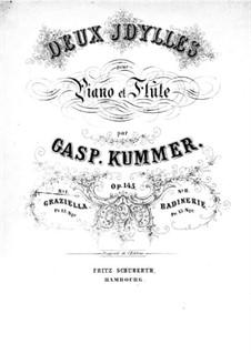 Idylle Nr.1 'Graziella' für Flöte und Klavier, Op.145: Idylle Nr.1 'Graziella' für Flöte und Klavier by Kaspar Kummer