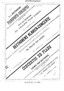Vollständiger Konzert: Version für Klavier und Streichquintett – Streicherstimmen by Ludwig van Beethoven