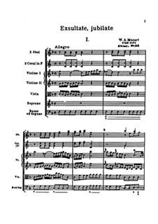 Exsultate, jubilate, K.165: Partitur by Wolfgang Amadeus Mozart