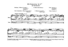 Chaconne in f-Moll: Für Orgel by Johann Pachelbel