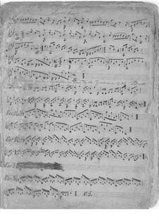Six variations faciles et agreables sur l'air 'La Tyrolienne', Op.8: Thema und Variations Nr.1-3 by Pietro Pettoletti