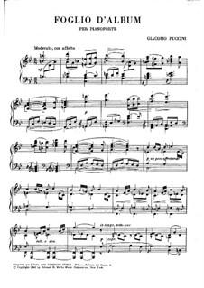 Albumblatt: Albumblatt by Giacomo Puccini