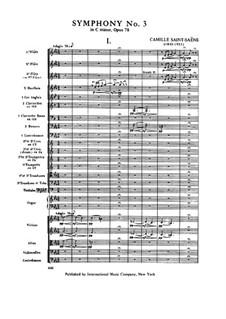 Sinfonie Nr.3 in c-Moll 'Orgelsinfonie', Op.78: Vollpartitur by Camille Saint-Saëns