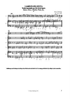 Lamentatio, Op.15: Sexta (Partitur) by Klaus Miehling
