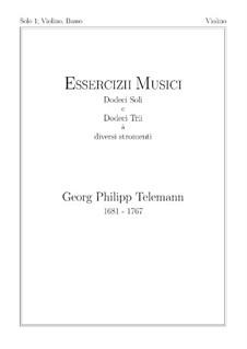 Solo Nr.1, TWV 41:F 4: Für Violine und Basso Continuo – Violinstimme by Georg Philipp Telemann