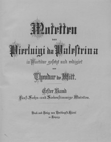 Motetten: Buch I by Giovanni da Palestrina