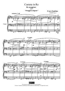 Cantata in d major for organ, CS099 No.2: Cantata in d major for organ by Santino Cara