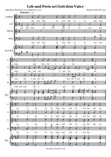 Lob und Preis sei Gott dem Vater, SWV 424: Lob und Preis sei Gott dem Vater by Heinrich Schütz