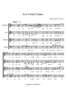 Ave verum corpus: Singpartitur by William Byrd