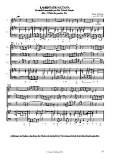 Lamentatio, Op.15: Octava (Partitur) by Klaus Miehling