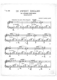 In süssen Träumen, Op.322: Für Klavier by Gustav Lange